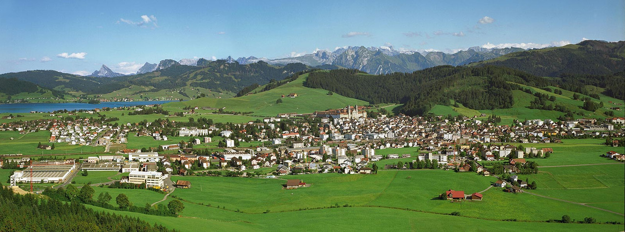 Bild Blick auf Einsiedeln im Sommer